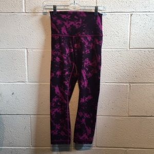 Lululemon pink & purple printed leggings 61469